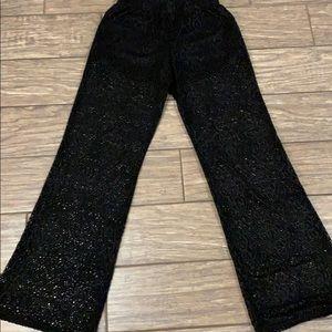 NO BOUNDARIES Lace Wide Leg Pants SZ S